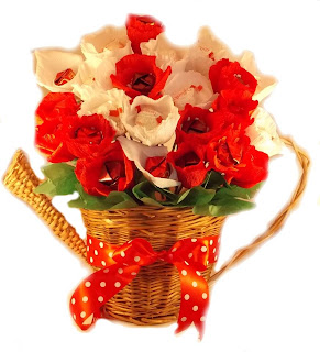 Buchete cu maci si trandafiri