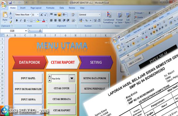 Aplikasi Raport SMP KTSP dengan Microsoft Excel
