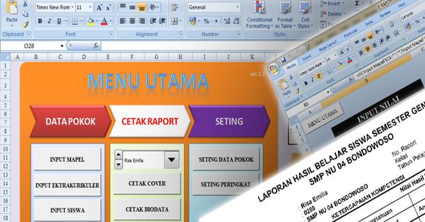 Aplikasi Raport Smp Ktsp Dengan Microsoft Excel Download