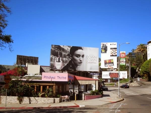 Calvin Klein Downtown fragrance billboard