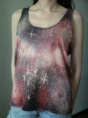 galaxy-diy-kosmos-romwe-black milk-trendy koszulka