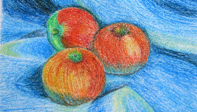 Tomatoes - Oil Pastel