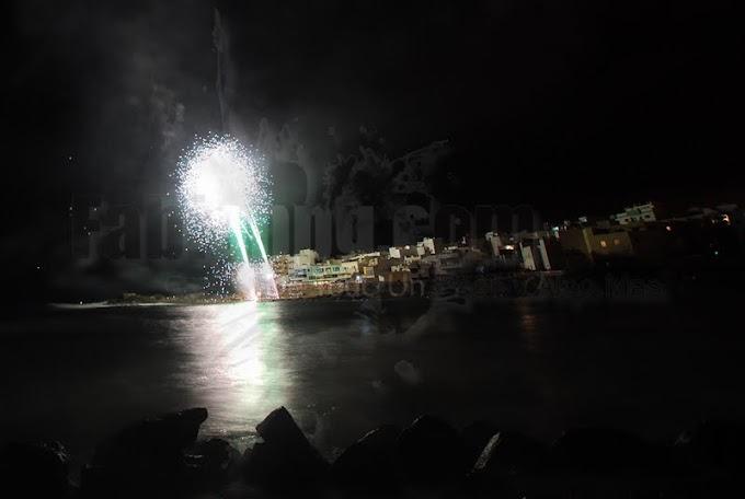 Fuegos Acúaticos y Aéreos, Fiestas en Honor a Santa Lucía 2012, El Puertillo.