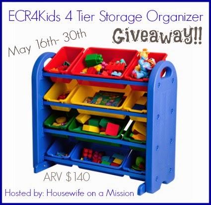 ECR4Kids 4 Tier Plastic Storage Organizer Giveaway