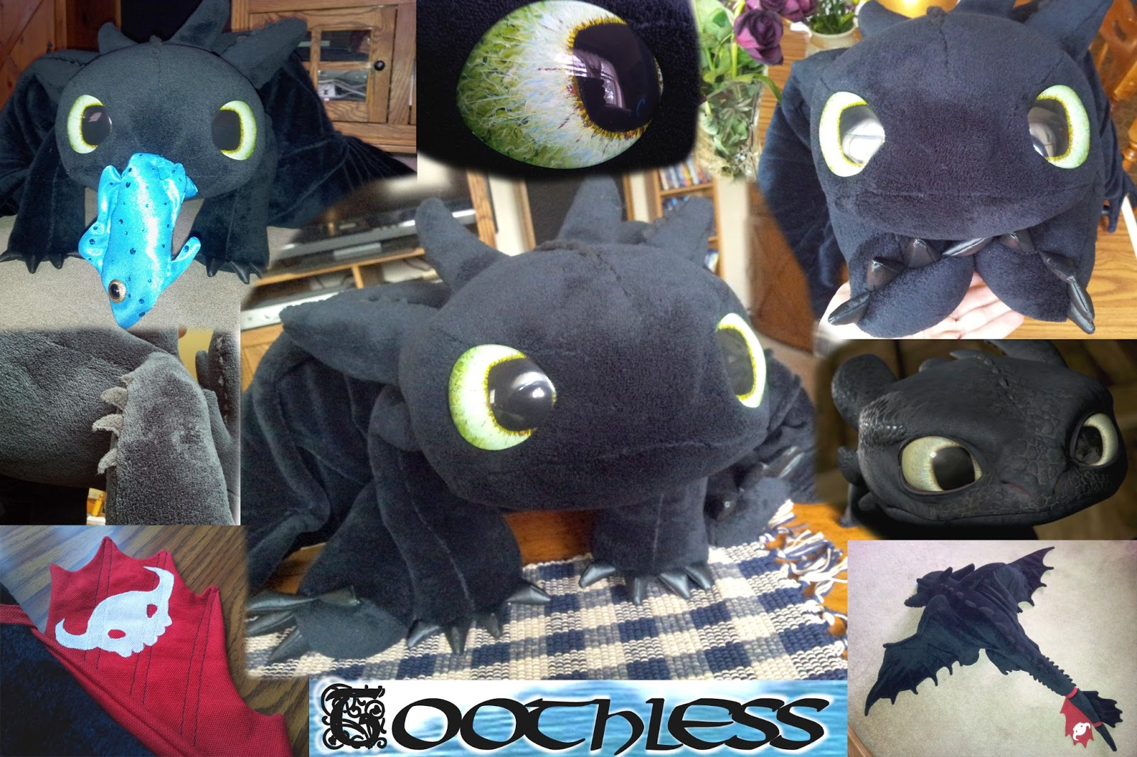Toothless Dragon Amigurumi Pattern : Quirky artist loft free pattern toothless dragon plush