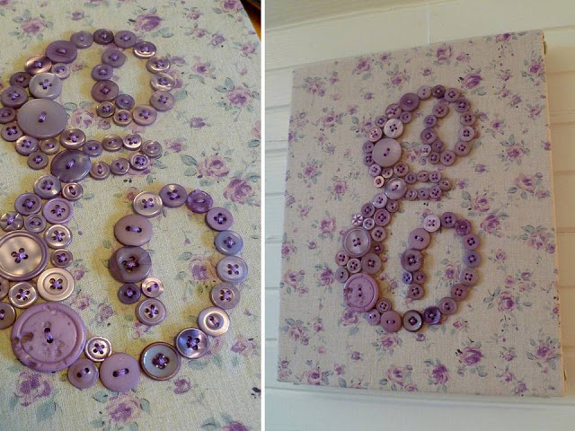 C mo hacer un cuadro decorado con botones coconic - Como hacer cuadros con botones ...