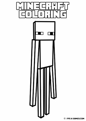 Printable Minecraft coloring - Enderman