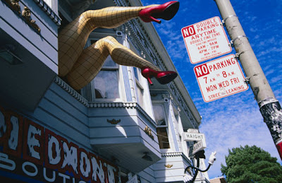 San Francisco - Quirky shop front decoration, Haight Street, The Haight.