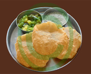 Poori, Delicious Indian Vegetarian Food