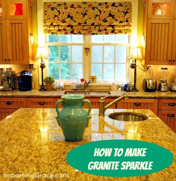 Want To Make Your Granite Countertops Sparkle? Thatu0027s Easy.