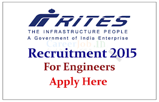 RITES Limited Recruitment 2015 for the post Engineer