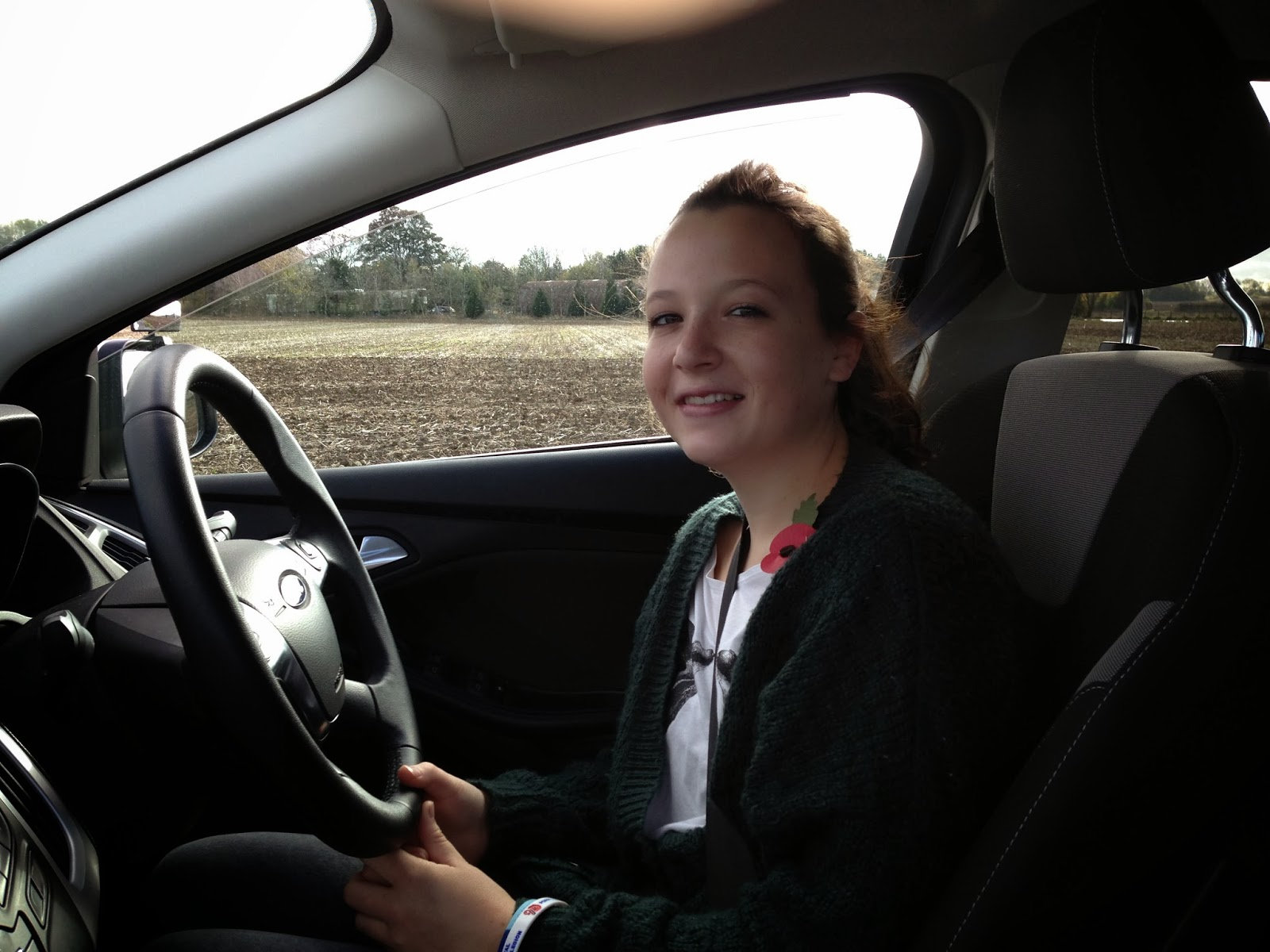 Katie Cusack (16). 1st under 17 off road lesson 30th October 2013 with Mark Prewett . Well done !