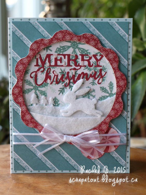 Handmade card. Christmas, Winter, Impression Obsession