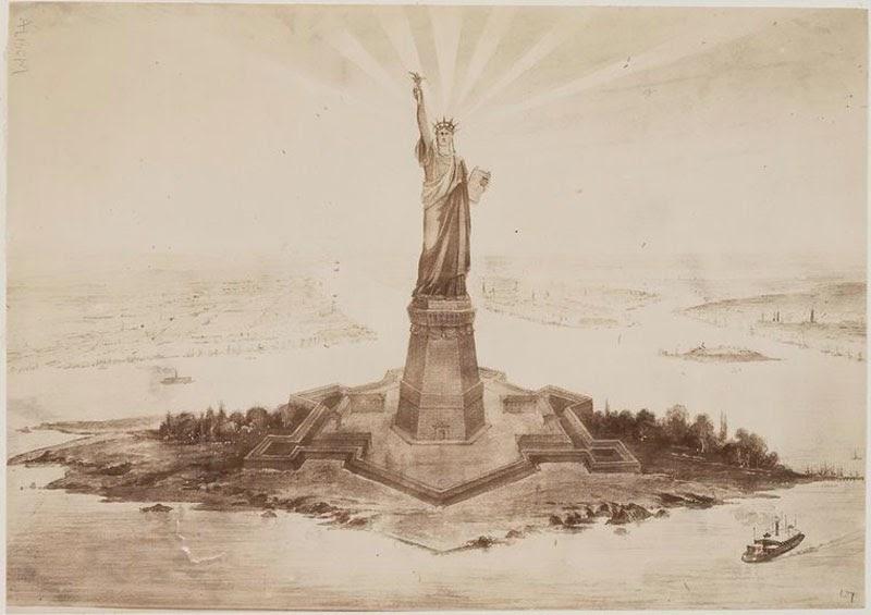 Como se construyó la estatua de la libertad. Construccion-estatua-libertad+%25281%2529