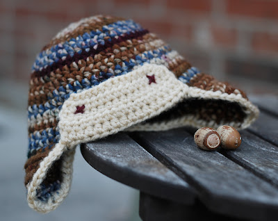 free crochet pattern newborn aviator hat