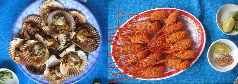 hải sản bãi biển nhật lệ