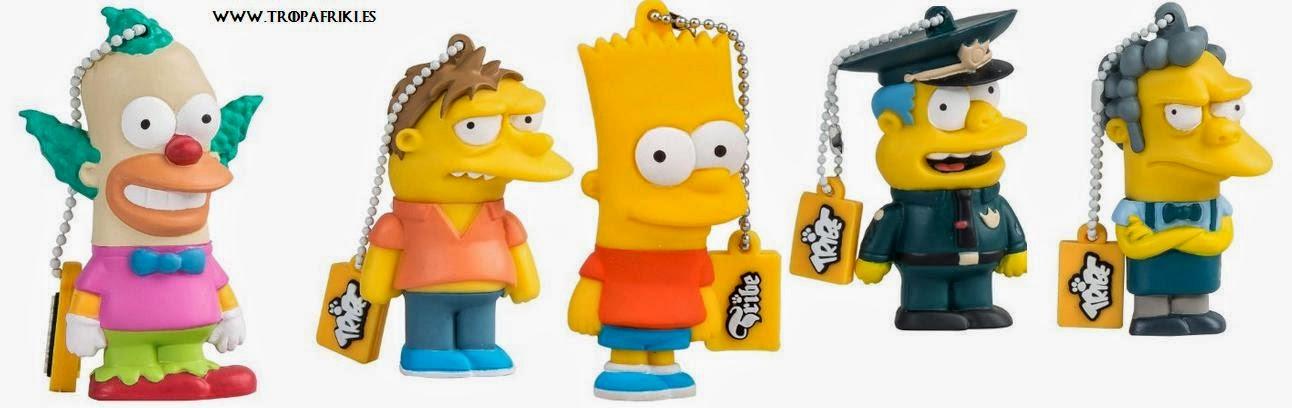 USB Los Simpson 8GB desde 18€ USB krusty el payaso, usb moe, usb barney, usb bart simpson