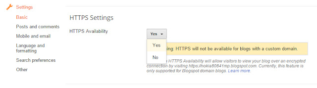 blogger https enable