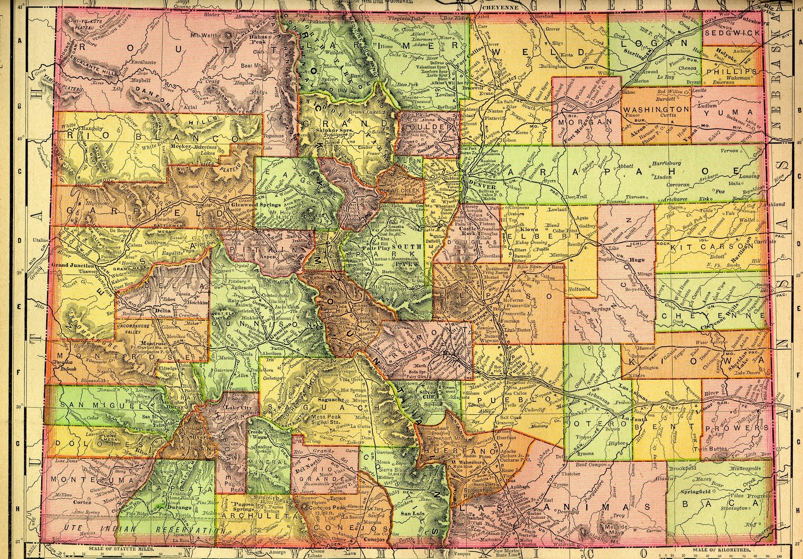 Colorado State Publications Library Historical Maps - Maps of colorado cities
