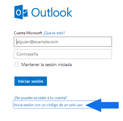 como inicio de sesion en Outlook mail