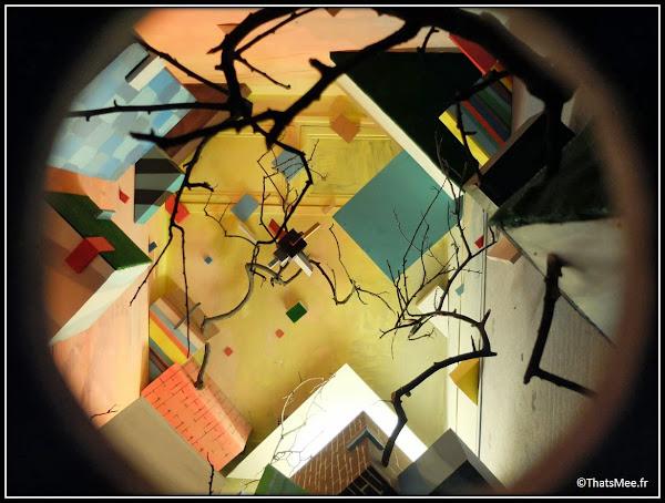 Tour Paris 13 street art géométrique oeil de boeuf