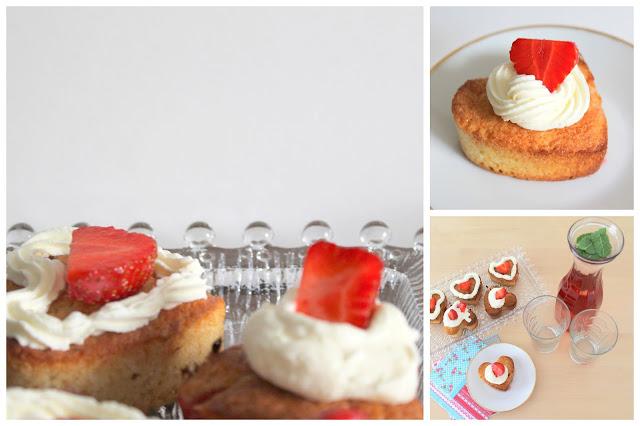 Erdbeer-Vanille-Muffins mit Sahne