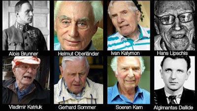 """https://www.facebook.com/pages/Anarquistas/378066755607147  El Top-ten del terror Algunos de los más crueles verdugos nazis viven protegidos por gobiernos occidentales. EE.UU. ha ofrecido la deportación de dos de ellos, pero aún ningún país los ha reclamado. La muerte del húngaro Laszlo Csatary, uno de los criminales nazis más buscados del mundo, no acaba con la lista de los asesinos del régimen de terror instaurado por Hitler que aún siguen eludiendo la responsabilidad de sus crímenes. Csatary, que sirvió como oficial de policía húngaro en Kosice, ayudó a organizar la deportación a Auschwitz de aproximadamente 15.700 judios de Kosice y alrededores en la primavera de 1944. Tras su muerte, aún quedan muchos criminales de guerra sin ser localizados o juzgados, tal y como recuerdan los informes anuales del Centro Simon Wiesenthal. Según sus archivos estos son algunos de los que quedan por llevar ante la justicia: 1- Alois Brunner (Siria) Conocido por su falta de compasión, Brunner era uno de los expertos en deportaciones del régimen: arquitecto de los guetos y convoyes hacia los campos de concentración, fue el brazo derecho de Adolf Eichmann, ideólogo de la conocida como """"Solución final"""". Se le atribuye el exterminio de al menos 128.500 personas como comandante del campo de París. Su predilección, los niños judíos, a los que consideraba """"futuros terroristas"""" a los que había que eliminar. A pesar de ello, consiguió huir bajo el sobrenombre de Georg Fischer. La última vez que se le localizó fue en el número 7 de la calle Georges Haddad, en Damasco. En la capital siria se hacía pasar por doctor, hasta que en 1992 las autoridades francesas le perdieron el rastro.Otras fuentes aseguran que vivió en Salvador de Bahía, en Brasil. Continúa en busca y captura, aunque acaba de cumplir 100 años, se desconoce si ha fallecido. 2- Aribert Heim (¿?) Conocido como el 'Doctor muerte', fue médico del campo de exterminio de Mauthausen, donde realizó todo tipo de experimentos con los pris"""