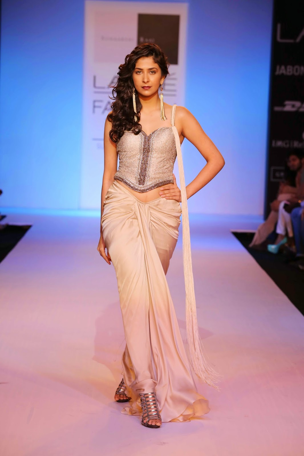 "Describing her clothes as classic with a sense of madness, Tanya Sharma's collection at Lakmé Fashion Week Summer/Resort 2014 was aptly called ""Out of the Box"". Her ""GaGa"" label has always spelt edgy, tough but slightly feminine clothes which have a mix of minimalism and contemporary chic."
