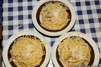 carbonara, spagetti, pasta, mager, fettfri, foto anders n