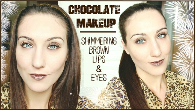 CHOCOLATE MAKEUP: Shimmering Brown Lips & Eyes (video), Chocolate brown makeup tutorial. Cokoladno braon sminka, tutorijal.