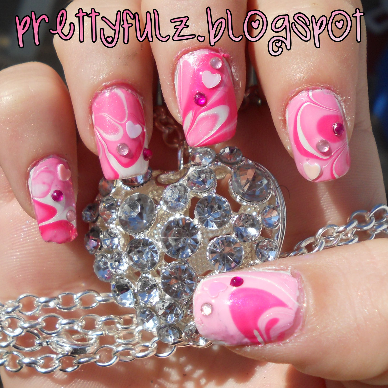 Valentine S Day Nail Art Design Pink Nails