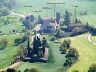 Sant Andreu de Gurb i voltants des del Turó de la Creu del mateix nom