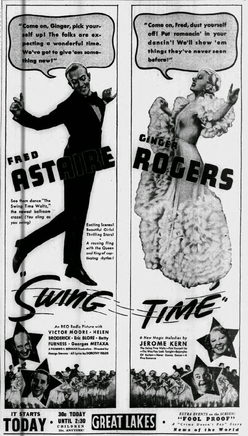 Astas Doghouse Swing Time (1936) Fred Astaire, Ginger Rogers