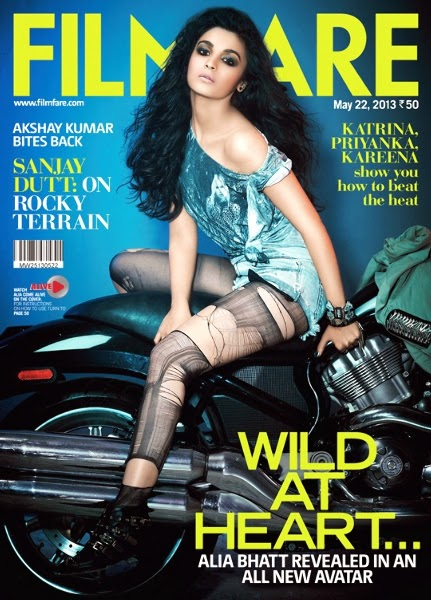 Alia Bhatt on Filmfare Magazine, May 2013 Issue