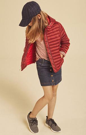 Massimo Dutti niña falda tejana chaqueta otoño invierno vuelta al cole
