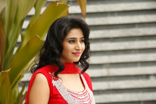 Shamili cute indian model in a Sizzling Red anarkali dress  by piatrends.com Spicy Pics