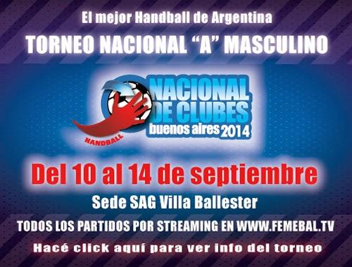 Nacional de Clubes en ARG: Señales para sábado y domingo