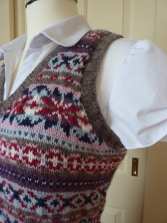 Yellow, Pink and Sparkly: Fair Isle Vest Finished - Finally!