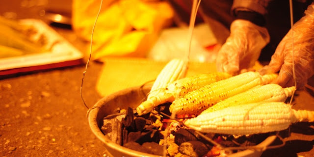 Street-side grilled corn