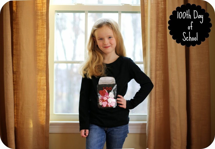 mason jar 100th day of school shirt