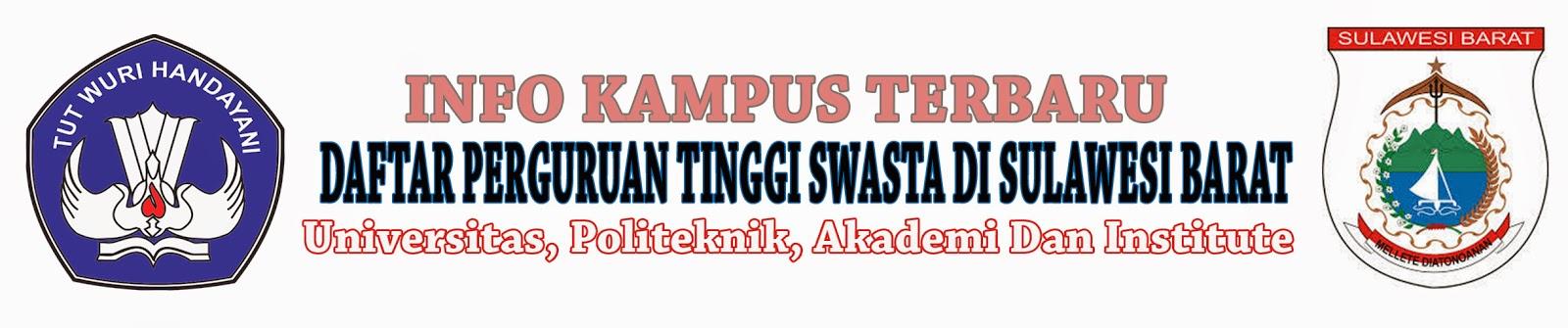 Daftar Perguruan Tinggi Swasta Di Sulawesi Barat