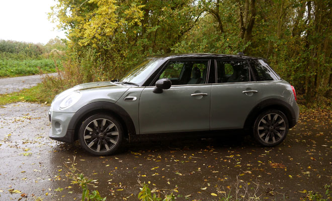 Mini Cooper D five-door side view