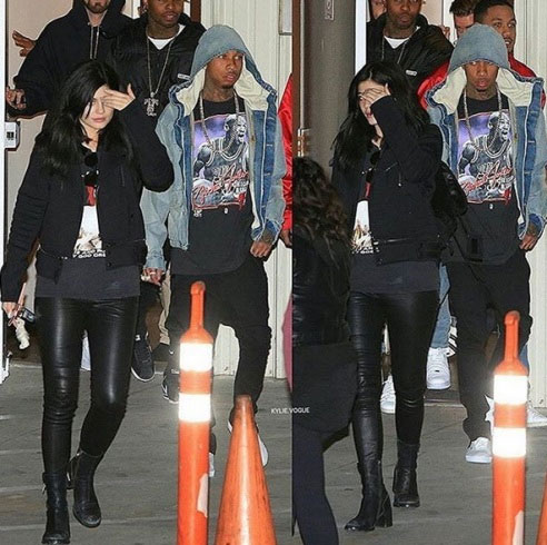 Tyga And On-and-off Model Girlfriend Kylie Jenner Spotted Leaving Kardashian Show
