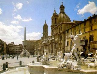 Plaza Navona, contiene la famosa Fuente de los cuatro ríos.