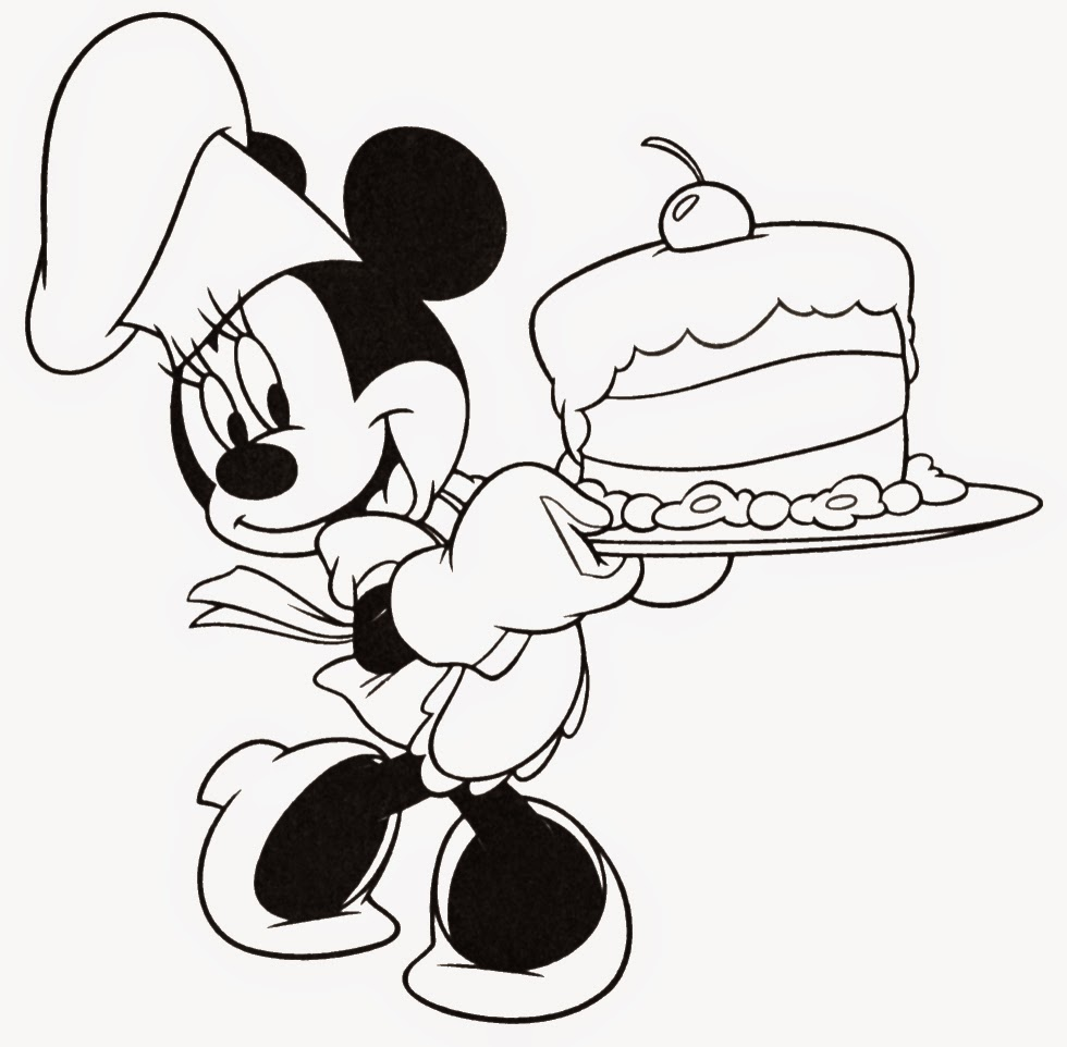 Minnie mouse birthday coloring pages coloring pages for Minnie mouse color page
