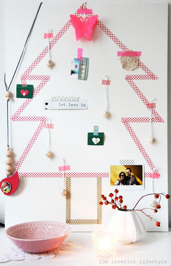Diy +washi+tape+christnas+tree