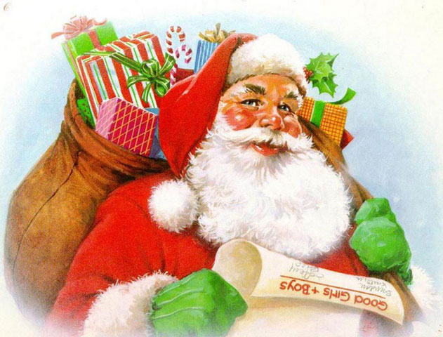Father Christmas Charity Merry Christmas cards for Family