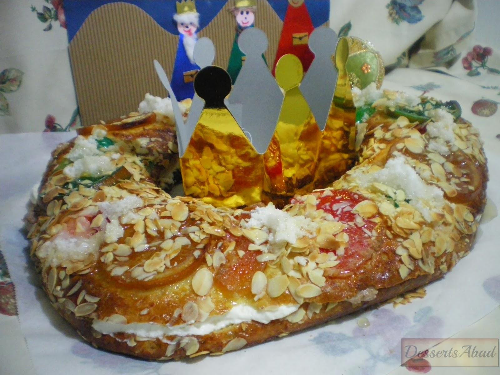 Roscón de Reyes relleno de nata y trufa