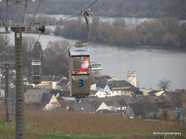 Christmas Market Magic...Cable car, Rudesheim Germany