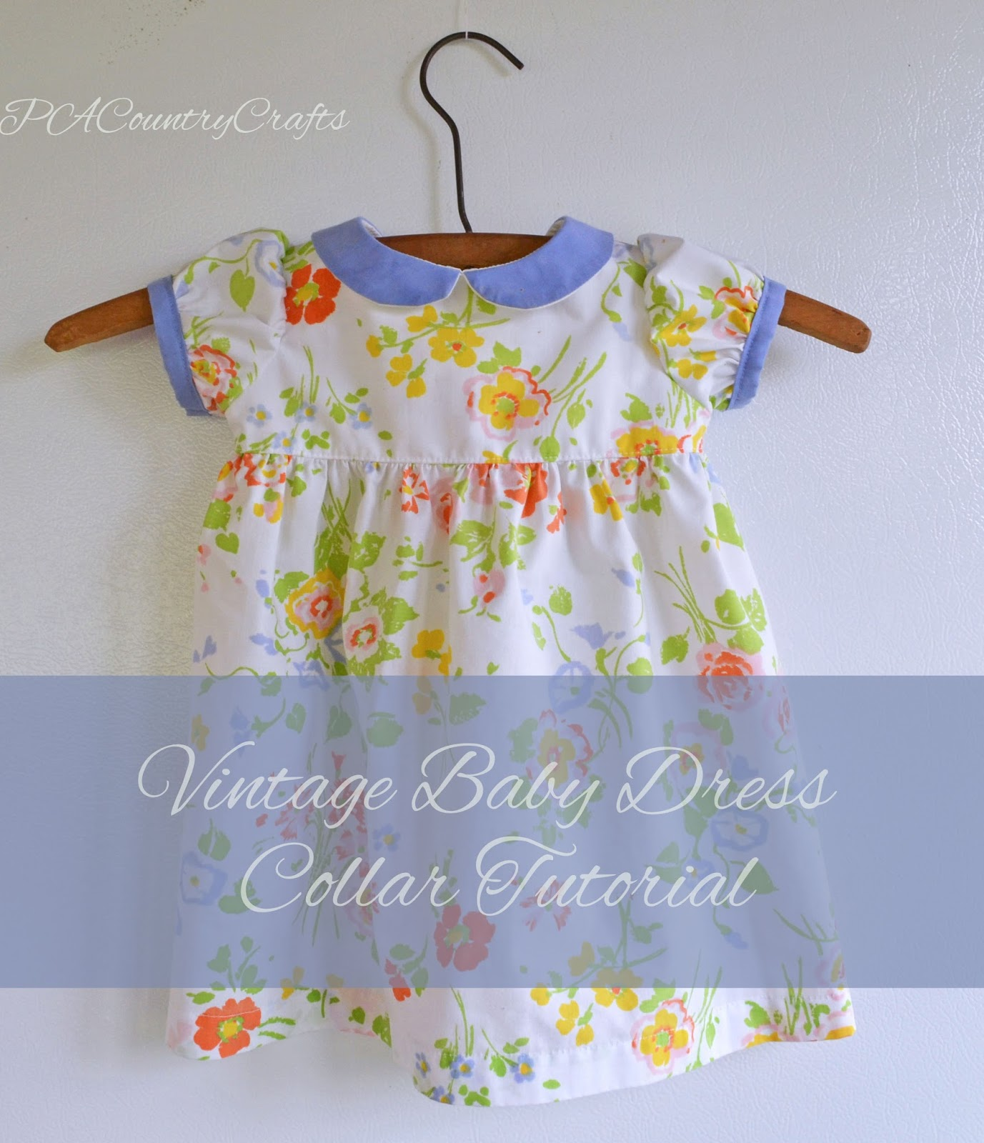 Vintage Baby Dress Collar Tutorial
